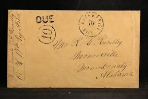 Confederate: Miss, Enterprise 1862 (circa) Stampless Cover to Alabama Soldier