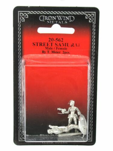 Street Samurai Male and Female #20-562 Shadowrun RPG Metal Ral Partha Figure