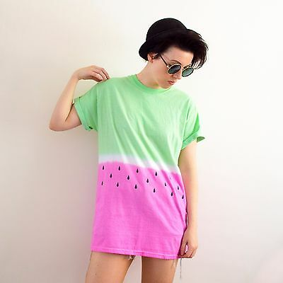 Watermelon T-shirt Tie Dye Baggy Hipster Tumblr Summer Festival Hipster Holiday
