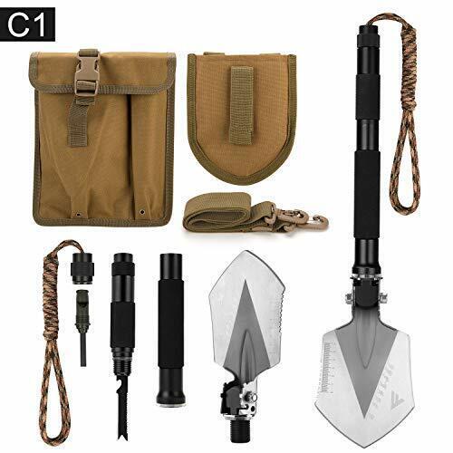 Portable Foldable Survival Too... FiveJoy Military Folding Shovel Multitool C1