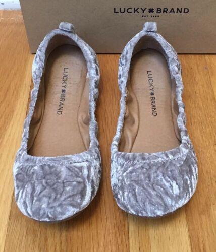 Donna Misura 6 Nebbia Brand balletto velluto 'eleesia Lucky in 5m elastizzato piatto grigio aw5PnvZqt