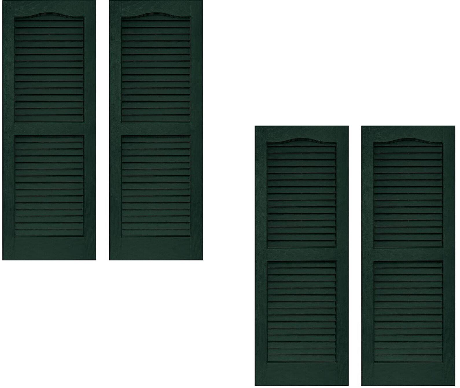 Juego de 4 persianas Vantage exterior Rejilla arco 14 X 59 Vinilo medianoche verde EE. UU.