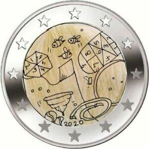 2-euro-commemorative-UNC-Malte-2020-Jeux-Solidarite-avec-les-Enfants-Malta