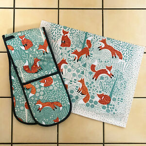 Ulster-Weavers-Foraging-Fox-Kitchen-Cotton-Hand-Dry-Tea-Towel-Double-Oven-Gloves