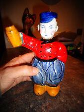 Ancienne Bouteille Kitch Fantaisie de Liqueur Pécheur Holandais Dutch Fisher Boy