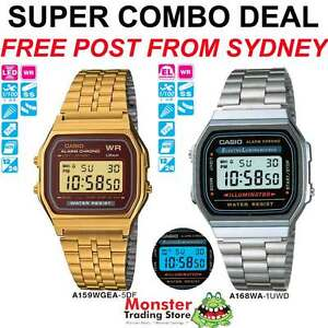 CASIO-WATCH-SUPER-COMBO-DEAL-FREE-POST-FROM-SYDNEY-RETRO-A159WGEA-5-A168WA-1