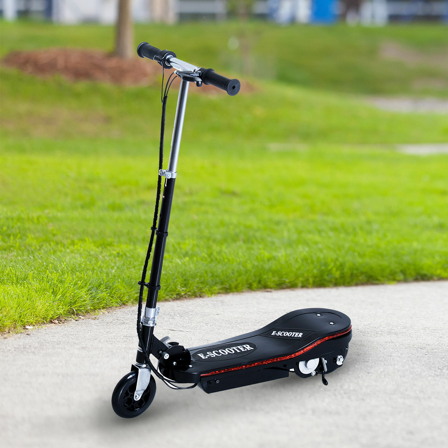 Aosom 120W Folding Kids Electric Scooter Adjustable T-bar Motorized E-Bike
