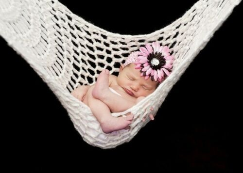 Outdoor Portable Bed Crochet Baby Hammock Knitted Newborn Infant Hammock NE8