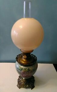 GWTW-Aladdin-Banquet-Lamp-Floral-design-Gone-With-The-Wind-Parlor-Ball-Shade
