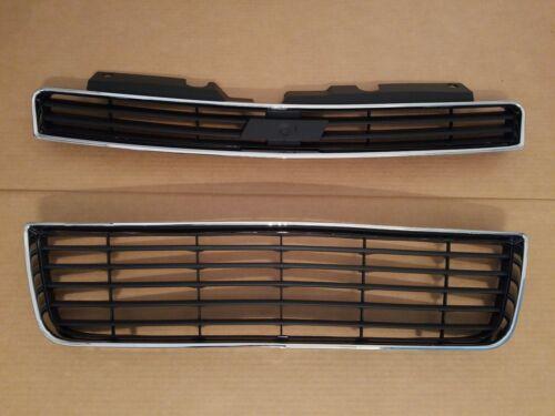 2PC Set 2006-2010 IMPALA LS LT LTZ Upper /& Lower Grille PAIR on Front Bumper NEW