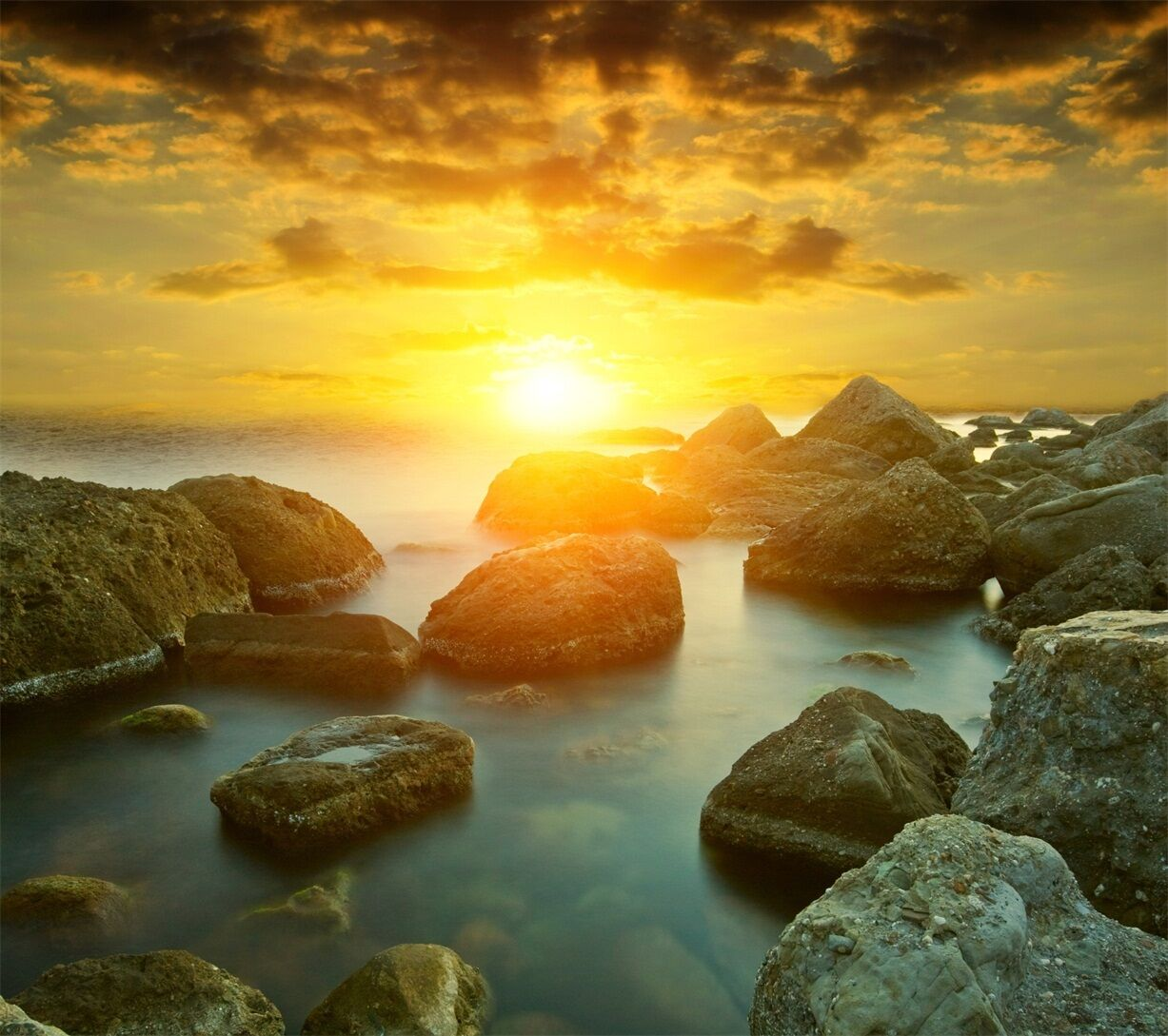 3D Sea Sunset 160 Wall Paper Wall Print Decal Wall Deco Indoor AJ Wall Paper