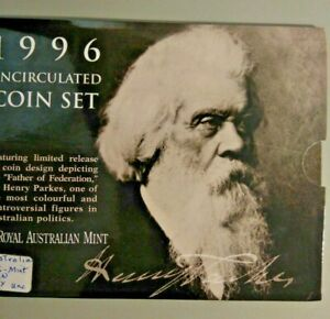Australia 1996 Uncirculated Mint Coin Set Henry Parkes