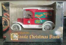 1995 Ertl Merry Christmas Bank 1913 Model T Van NIB RARE BLOWOUT SALE