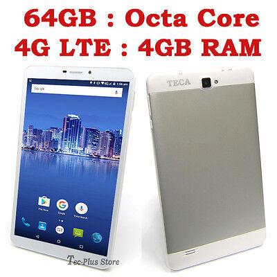 "NEUF TECA LTE850 4G OCTA CORE 4GB-RAM 64GB 7"" Full-HD ANDROID 6.1 SMARTPHONE c"