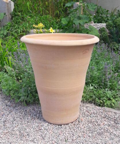 hochwertiges terracotta Pflanzgefäß,handgefertigt und frostsicher,Hibiscus 50 cm