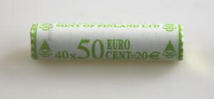 KMS Série de Monnaie Légale Rouleau 50 Cent Finlande 2002 non Ouvert Rôle la Vue