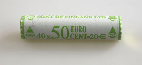 Charitable Kms Série De Monnaie Légale Rouleau 50 Cent Finlande 2002 Non Ouvert Rôle La Vue Jouir D'Une Haute RéPutation Sur Le Marché International