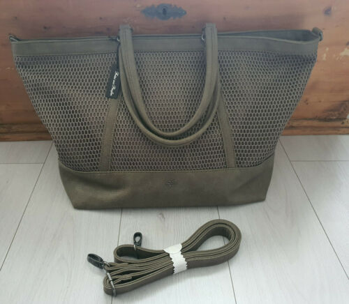 Fritzi aus Preußen Damen Handtasche Mattea Mesh Mix Olive