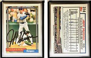 Jeff Huson Signed 1992 Topps #314 Card Texas Rangers Auto Autograph