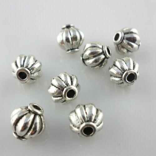 16//48pcs Tibetan Gold//Silver Lantern Spacer Beads Bracelet Beading Making