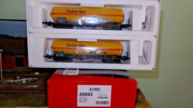 ACME 45093 Set 2 carri cisterna Zagkk BUTANGAS, livrea gialla fascia arancio, FS