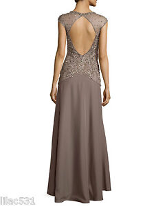 Sz 4 ❤ Sue Wong Nocturne Open Back Beaded Illusion Gown Wedding ...
