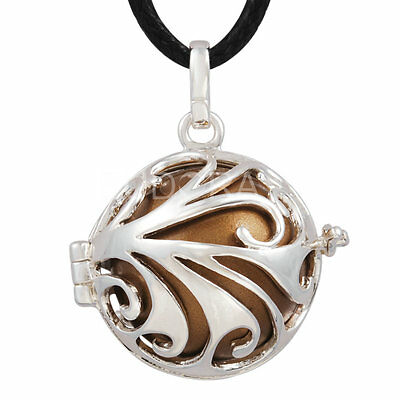 Mexican bola silver cage baby chime pendant angel caller Harmony ball & necklace