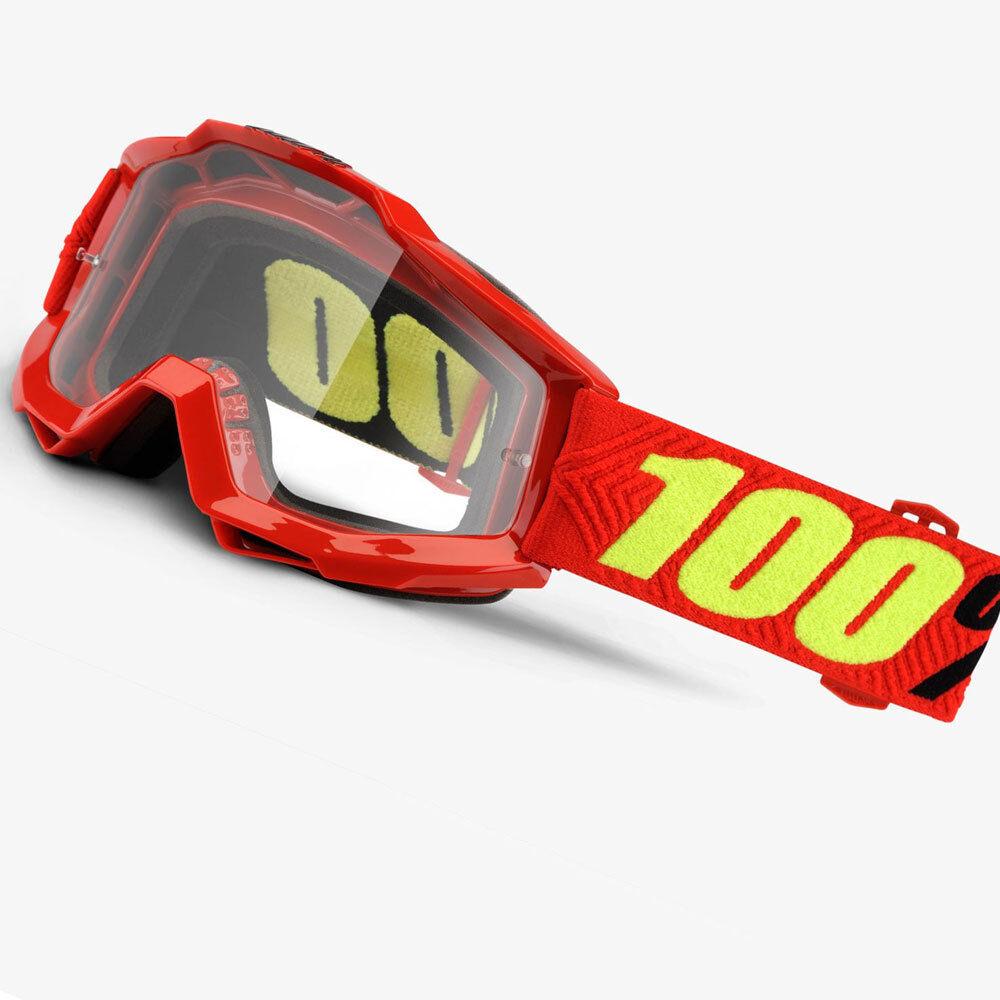 100% PORCENTAJE ACCURI Saarinen Motocross motos MX GOGGLES con Transparente