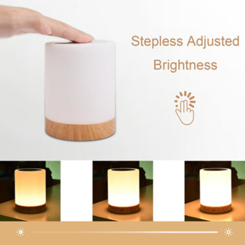 Touch-Sensor Night Light Portable LED-Dimmable Rechargeable Bedside Table Lamp
