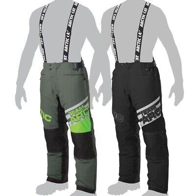 Arctic Cat Men/'s Team Arctic Snowmobile Insulated Snow Bibs Pants Green Black