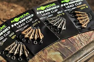 Korda-Hybrid-Lead-Clip-Quick-Change-Carp-Fishing-Terminal-All-Colours
