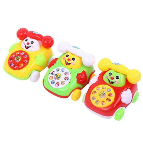 Plastic Smile Cartoon Simulation Phone Car Educational Infant Kids Toy Gift UK