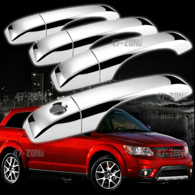 For 2009-2012 Dodge Journey Chrome Plated Door Handle Covers Overlays Trim 4DR