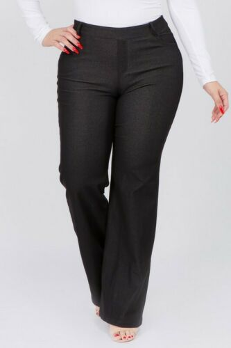WOMEN/'S PLUS SIZES  Mid Rise Cotton Blend Flare BOOT CUT Jeggings PULL UP PANTS