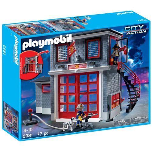 Playmobil 5981 città azione Centre de pompier Station avec personnages  accessoire  buona reputazione