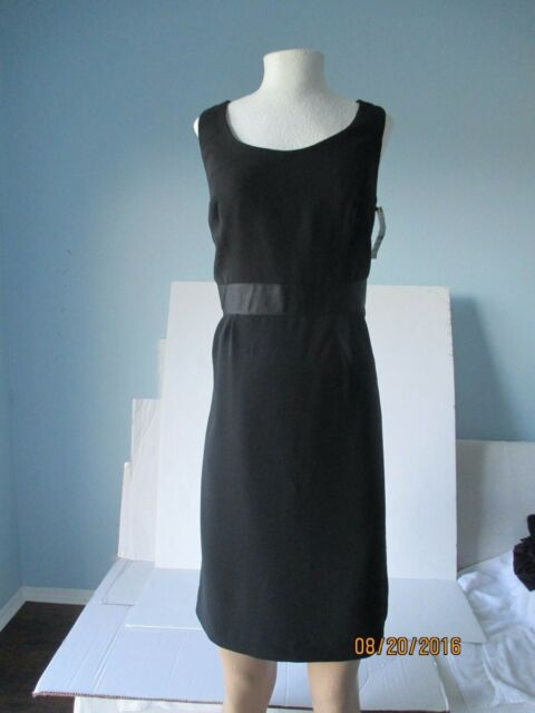 Style Co Black Lined Accented Empire Waist Sleeveless Little Small