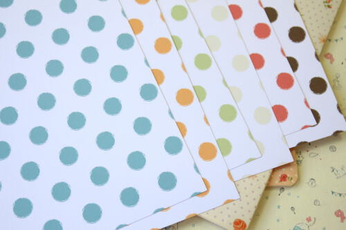 Distressed Dots Mix printed Card Stock 250gsm wedding craft postcards cardmaking