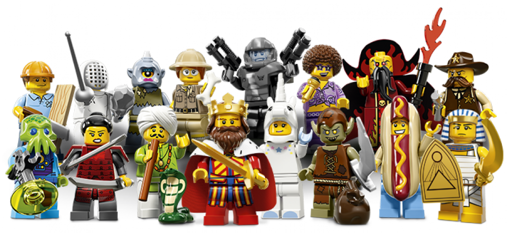 Lego Mini Figurines Séries 13 71008 - Jeu Complet Of 16 Lego Mini Figurines