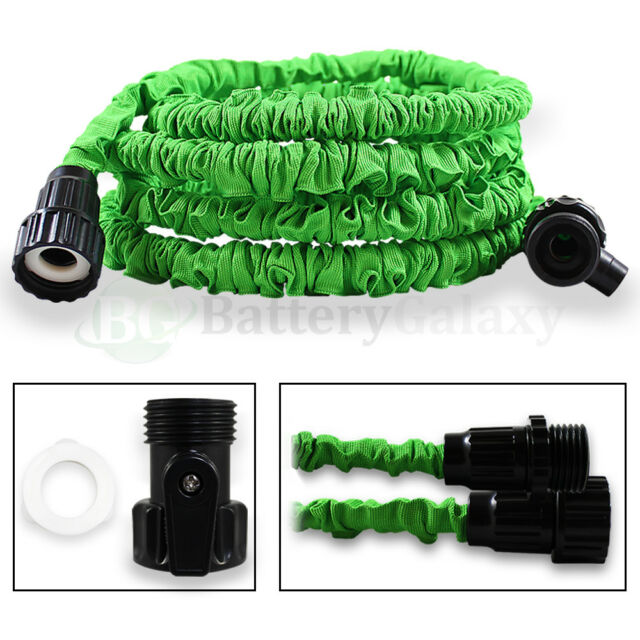 25 Feet 25FT Expandable Flexible Garden Lawn Water Hose Nozzle Green 200+SOLD