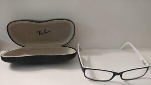 a40763c623ba7 Authentic Ray Ban RB 5114 2097 Black White Eyeglasses Frames 52 16 ...