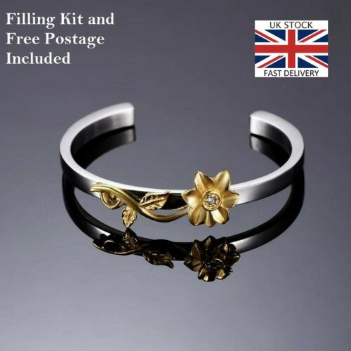 Sunflower Flower Bangle Jewellery Cremation Urn Pendant Ashes Funeral Memorial