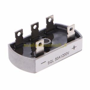 SQL50A-50A-1200V-Aluminum-Metal-Case-3-Phase-Diode-Bridge-Rectifier-Module-NEW