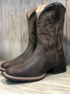 081beafbe1a Details about Ariat Men's Hybrid Rancher Distressed Brown Square Toe Boot  10023175