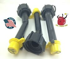 3 Blitz Gas Can Nozzle Spouts Rings Caps Replacement Vintage 900092 900302 New