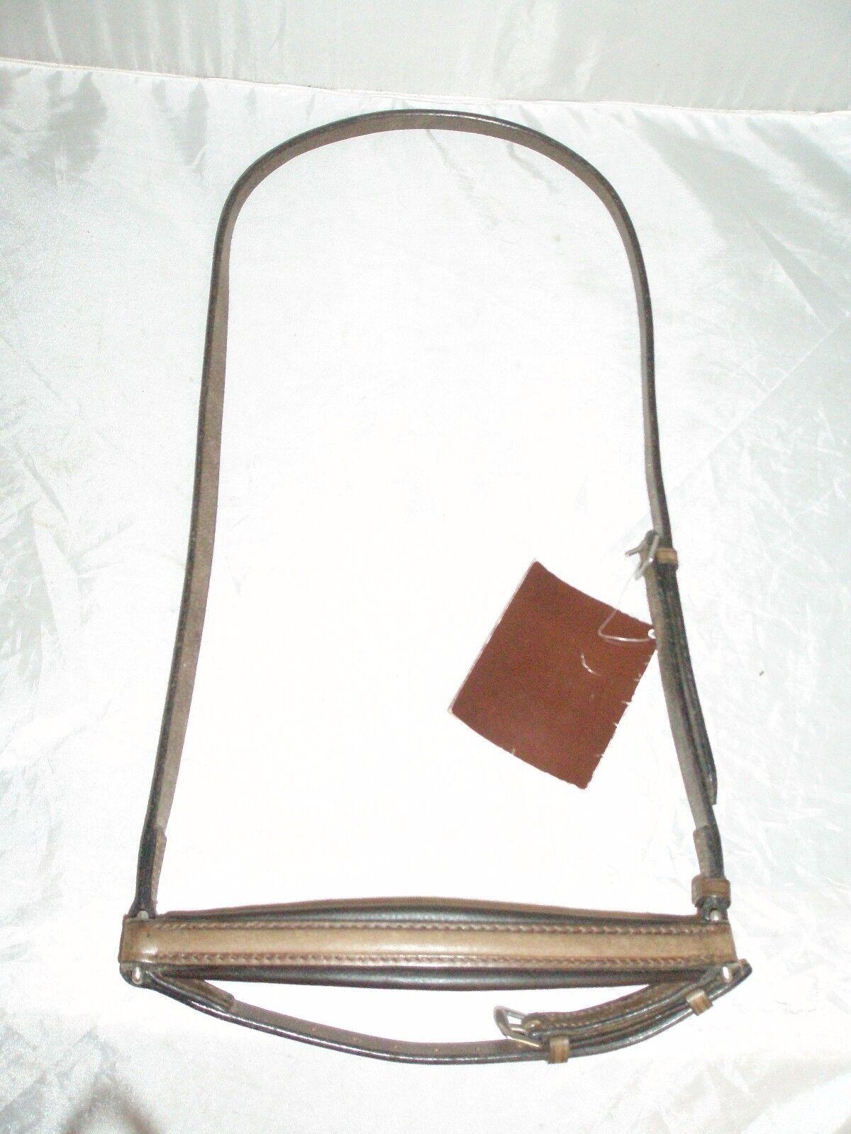 Sabre Brown Leather Pony Noseband