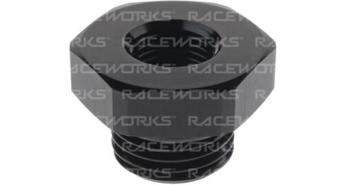 "RACEWORKS AN-8 O-RING MALE TO FEMALE 1//8/"" NPT REDUCER RWF-813-08-02BK"