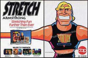 STRETCH ARMSTRONG__Original 1993 Trade Print AD / Cap Toys promo / ADVERTISEMENT
