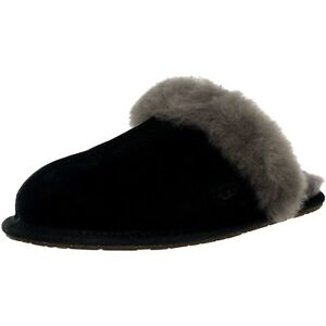 c429588baff Women UGG Scuffette II Slipper 5661 Black Grey Suede 100% Authentic ...