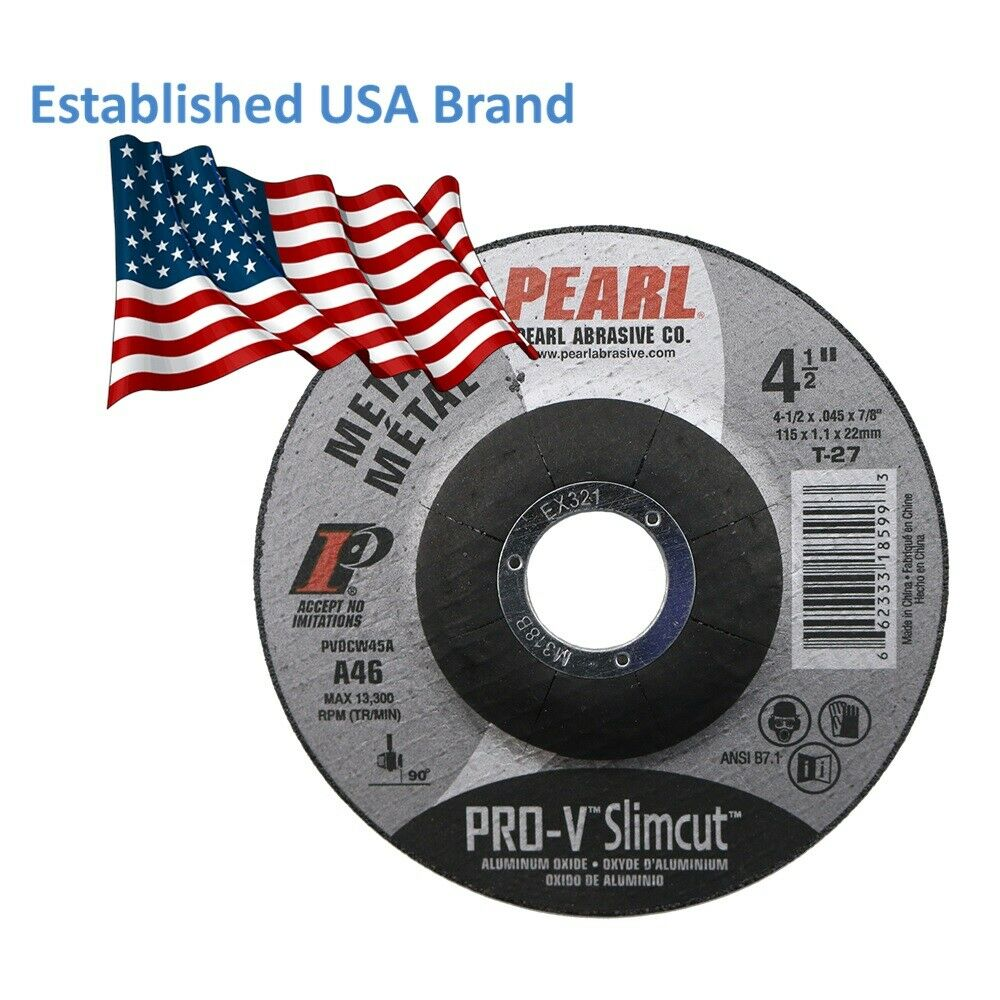 5-PK Pearl Abrasive DCW45A Slimcut-40 Cut-off Wheel 4-1//2 x .040 x 7//8