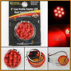 2 Quot Round Red Dual Function 7 Led Low Profile Marker